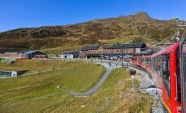 Trem da montanha de Jungfrau, Suíça fotos de stock