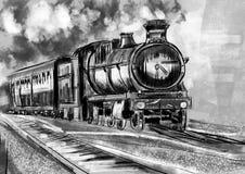 Trem da tração da mão Imagem de Stock
