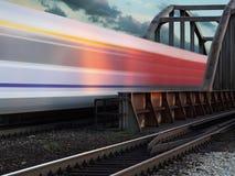 Trem da velocidade Imagens de Stock Royalty Free