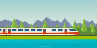 Trem da velocidade ilustração stock