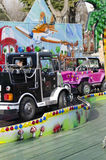 Trem das crianças no parque de diversões Fotografia de Stock Royalty Free