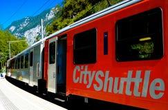 Trem de Áustria - Hallstatt Fotos de Stock Royalty Free