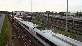 Trem de alta velocidade video estoque