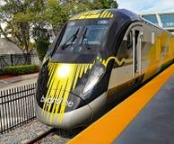 Trem de alta velocidade de Brightline Fotos de Stock