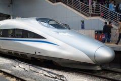 Trem de alta velocidade chinês fotografia de stock royalty free