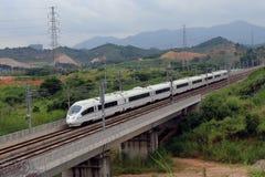 Trem de alta velocidade de China Foto de Stock
