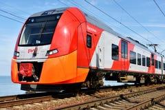 Trem de alta velocidade Lastochka Fotografia de Stock Royalty Free