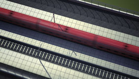 Trem de alta velocidade na estação ilustração stock