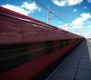 Trem de alta velocidade na estação ilustração royalty free
