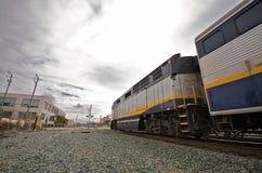 Trem de Amtrak em Berkeley fotografia de stock