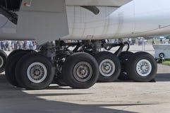Trem de aterragem de aviões A380 Imagem de Stock