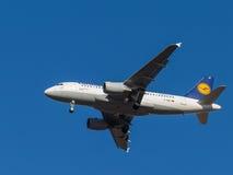 Trem de aterrissagem de aviões Foto de Stock