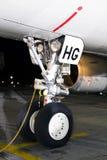 Trem de aterrissagem dianteiro do Airbus A320-200 Imagens de Stock Royalty Free