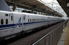 Trem de bala de Shinkansen Foto de Stock
