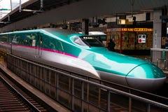 Trem de bala japonês, curso de Japão imagens de stock royalty free