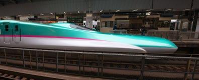 Trem de bala japonês, curso de Japão foto de stock royalty free