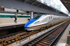 Trem de bala japonês, curso de Japão fotografia de stock royalty free