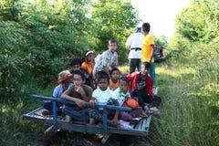 Trem de bambu Imagem de Stock Royalty Free