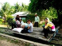 Trem de bambu de Battambang Imagens de Stock