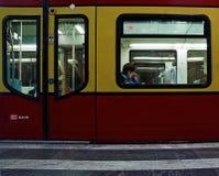 Trem de Berlin Subway fotos de stock royalty free