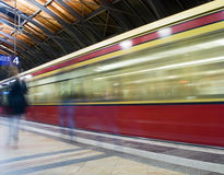 Trem de Berlin Subway imagem de stock