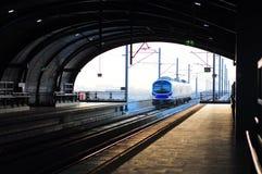 Trem de céu Fotos de Stock Royalty Free