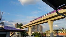 Trem de céu de Banguecoque Foto de Stock Royalty Free