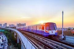 Trem de céu do BTS Foto de Stock