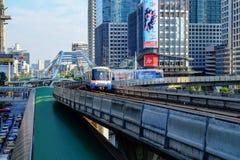 Trem de céu do BTS Fotografia de Stock