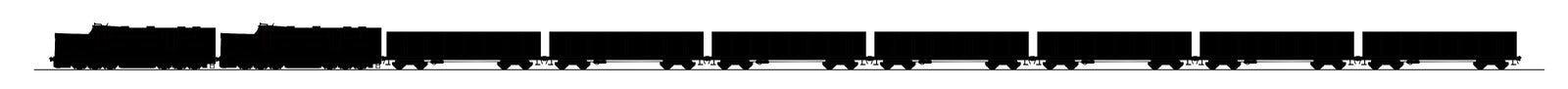 Trem de carvão ilustração do vetor