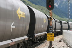 Trem de carvão em Nova Zelândia Fotografia de Stock Royalty Free