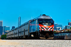 Trem de Chicago foto de stock royalty free