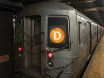 Trem de D - New York City Imagens de Stock