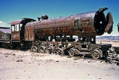 Trem de fantasma em Bolívia, Bolívia fotografia de stock