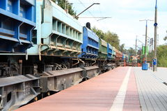 Trem de frete Fotografia de Stock Royalty Free
