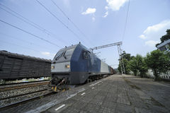 Trem de frete chinês Fotografia de Stock