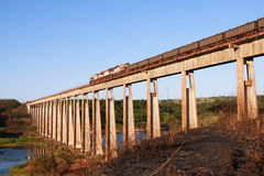 Trem de frete de Carajas na ponte Fotos de Stock
