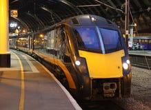 Trem de Grand Central na estação de trem de York Fotografia de Stock Royalty Free