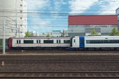 Trem de Japão, estrada de ferro Imagens de Stock Royalty Free