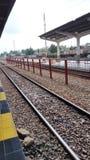 Trem de Kisaran em minha cidade natal Imagens de Stock