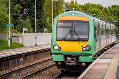 Trem de Londres Overground Fotografia de Stock
