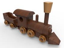Trem de madeira do brinquedo ilustração royalty free