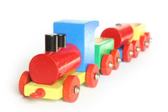 Trem de madeira do brinquedo Fotos de Stock