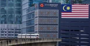Trem de Malásia LRT Foto de Stock