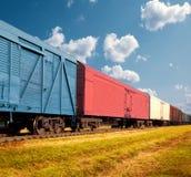 Trem de mercadorias fotografia de stock royalty free