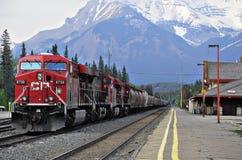 Trem de mercadorias. Imagem de Stock