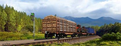Trem de mercadorias imagens de stock royalty free
