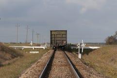 Trem de mercadorias Fotografia de Stock