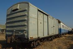 Trem de mercadorias de estrada de ferro do estado de Tailândia (SRT) Fotos de Stock Royalty Free