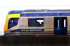 Trem de Metlink em Wellington - Nova Zelândia fotografia de stock royalty free